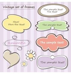 Vintage set of frames vector