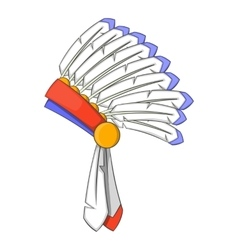War bonnet icon cartoon style vector