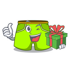 With gift cartoon shorts style for the swimming vector