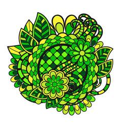 zentangle doodle floral ornament vector image