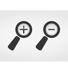 Zoom Icons vector image