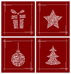 Abstract Christmas symbol set vector image vector image
