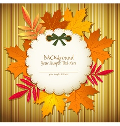 autumn striped background vector image