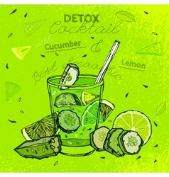 Cucamber Lemon Smoothie vector image vector image