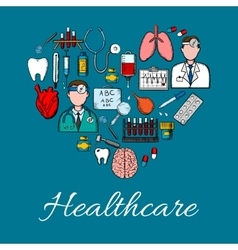 Medical icons and symbols background vector image