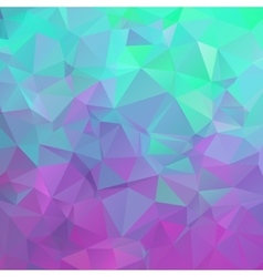 Polygonal square background Colors from green vector image vector image
