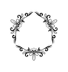 Black classic triangular contour frame vector