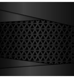 Black metal background Metal grid vector image