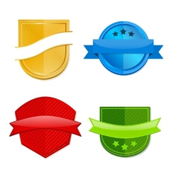 Blank template badges vector image