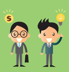 business man cartoon design vector image vector image