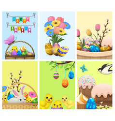 easter festive cartoon concepts collection vector image vector image