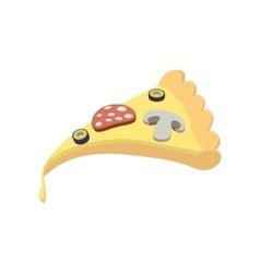Slice of pizza icon cartoon style vector image