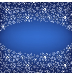 Winter ornamental frame with snowflakes vector image vector image