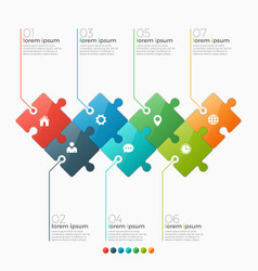 7 options infographic template vector image vector image