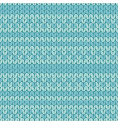 blue retro style sweater pattern with stripe vector image