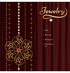Jewelry background vector image