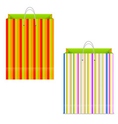 multicolored paper shopping bag on white vector image