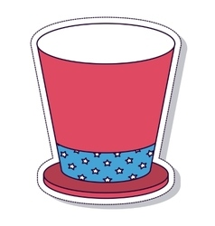 patriotic hat isolated icon design vector image