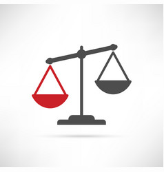simply compare icon red vector image vector image
