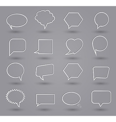 Speech bubbles thin grey vector image vector image