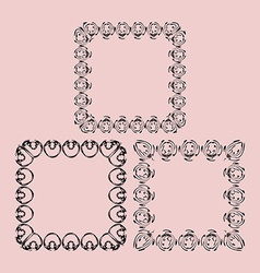 The scope of the monograms for photos vector image vector image