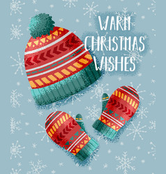 warm christmas card vector image vector image