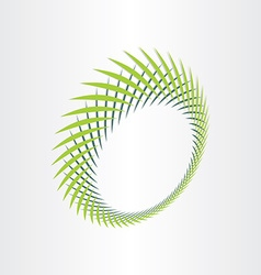 abstract green background with green leafs vector image vector image
