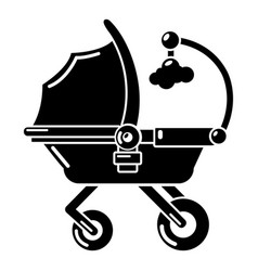 baby carriage cute icon simple black style vector image
