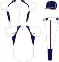 baseball uniform vector image vector image
