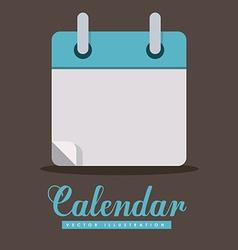 Calendar design vector image