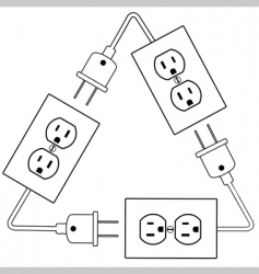electrical outlets vector image vector image