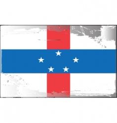 Netherlands Antilles flag vector image