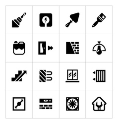 Set icons of repair and building vector image vector image