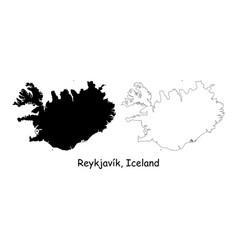 1083 reykjavik k iceland vector