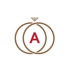 a letter ring diamond logo vector image