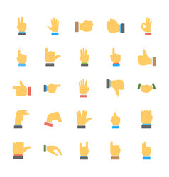 A set of hand gestures icons vector