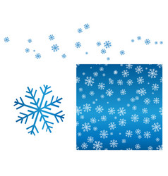 a set of winter designs seamless ornament with vector image