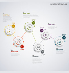 abstract info graphic with rounded coupled design vector image