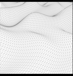 abstract wire-frame grid vector image