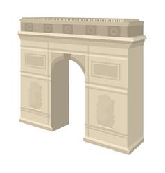 Arc de triomphe in paris arch building single vector