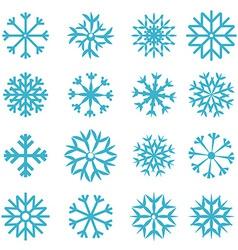 Blue Snowflakes Set vector image