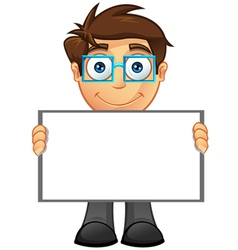 Business Man Blank Sign 4 vector image