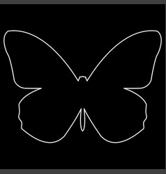 butterfly the white path icon vector image vector image