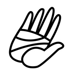 cartoon hand high five vector image