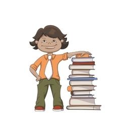 Cartoon School Boy vector