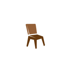 chair without arms for logo design icon vector image