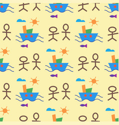 Children creativity seamless pattern vector