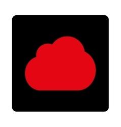 Cloud flat intensive red and black colors rounded vector
