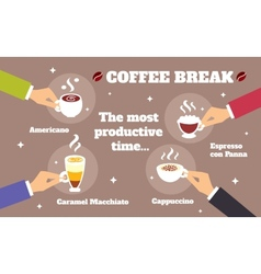 Coffee break concept vector