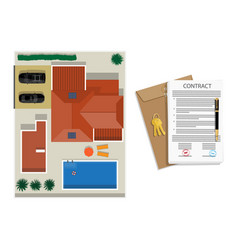 Contract or agreement vector